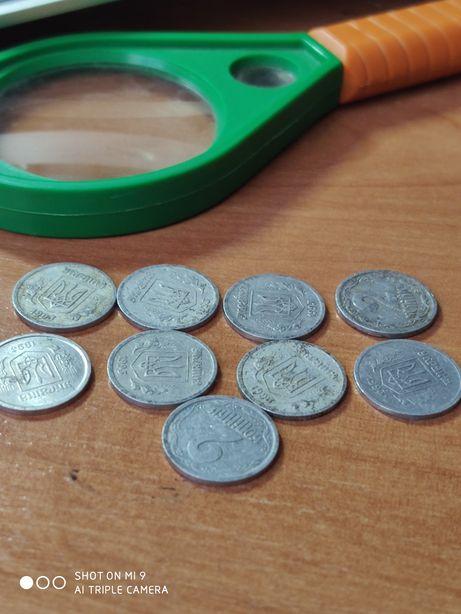 9 монет 1993г- 2 коп( алюминиевые)- цена обсуждается.