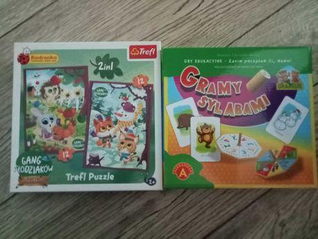 Gra sylaby + puzzle slodziaków