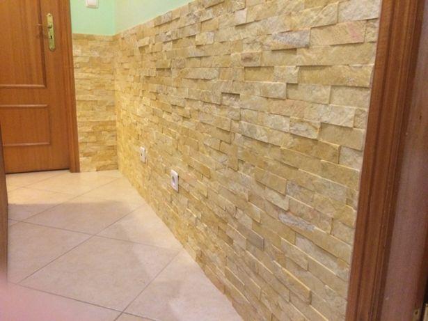 Pedra creme para decoração de paredes