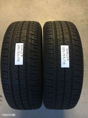 2 pneus semi novos Dunlop 196/55/16 - Entrega grátis