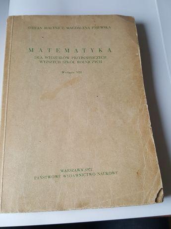 MATEMATYKA dla wydziałów  przyrodniczych, S. Białynicz i M. Pniewska