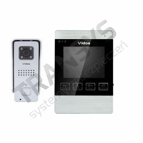 """Vidos M904S+S6 zestaw wideodomofonu monitor 4"""" z pamiecią"""