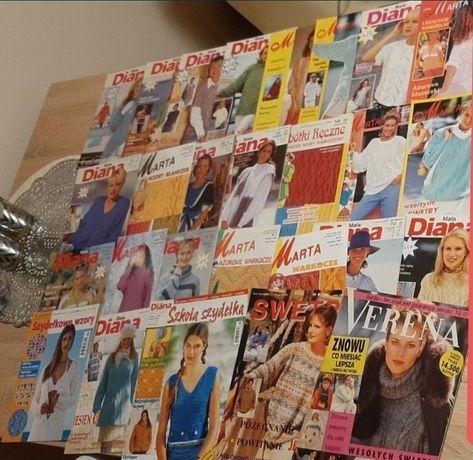 Zestaw czasopism sweterki szydełko
