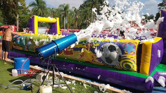 canhão de espuma/ canhão de confetis /bolas sabão