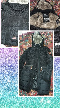 Зимняя куртка на девочку 13-16 лет,размер S