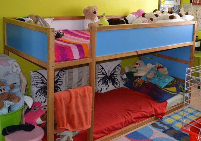 Łóżko piętrowe IKEA niskie stan dobry