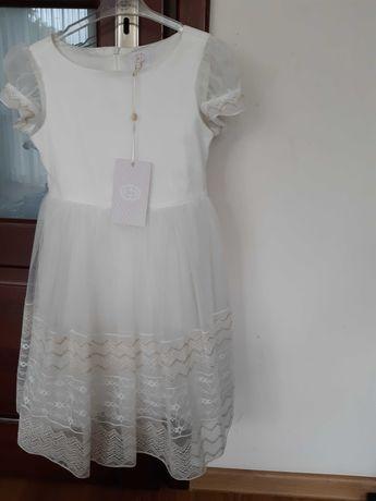 Sukienka wizytowa SLY SPECIAL MOMENTS r.122, ecru