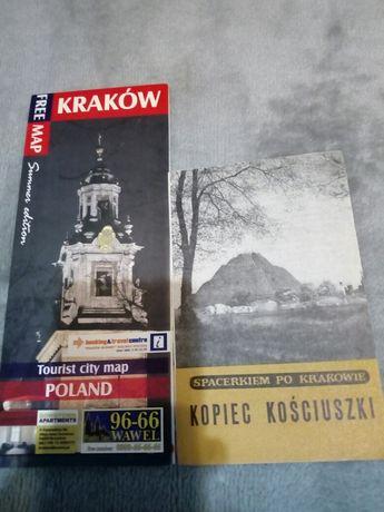 Mapa Krakowa+Kopiec Kościuszki