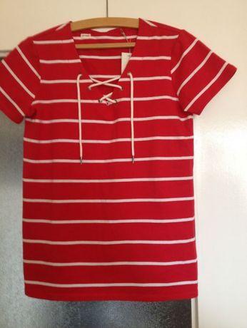 Czerwona koszulka z firmy cable&gauge