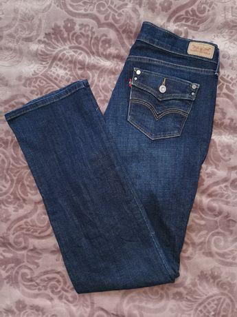 Jeansy Levi's 505 W29 L32 straight leg granatowe dżinsy spodnie