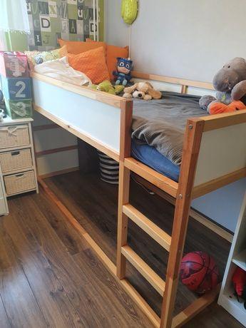 Łóżko IKEA KURA dwustronne z materacem