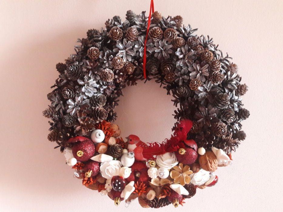 Wianek świąteczny Boże Narodzenie dekoracja domu Lubin - image 1