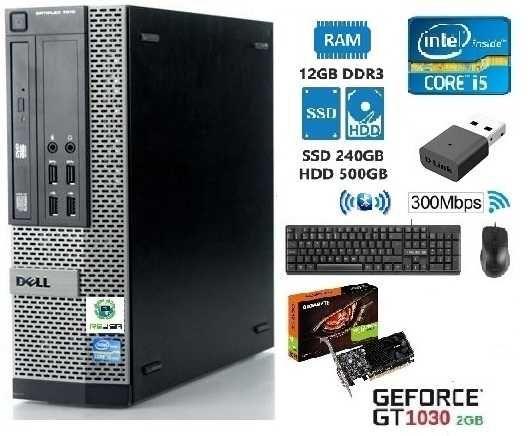 Pc-DELL-EDIÇÃO/GAMER 3Gª (I5)-3.4G,12G, SSD+HDD,KIT,GT1030-2G,Wifi,W10