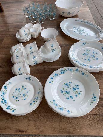 Serviço de Jantar Arcopal Arc Veronica Blue Flowers FRANCE