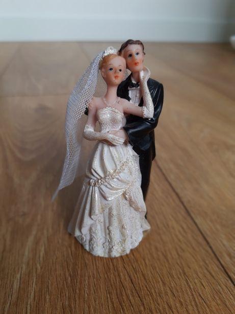 Figurka para młoda ślub tort