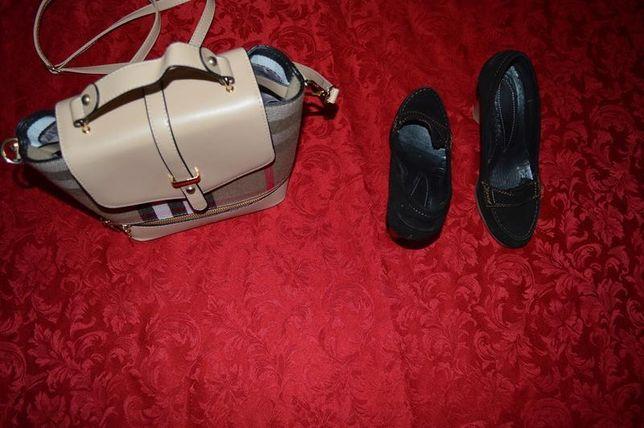 Милые замшевые туфельки состояние идеал р.36