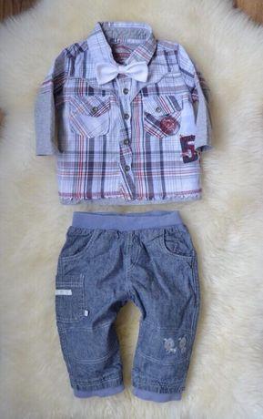 Рубашка и джинсы 6-9
