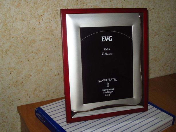 Рамка для фотографий EVG 15х20 см дерево металл бархат НОВАЯ