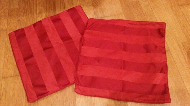 2 capa almofada vermelhas 50x50 cm como novas