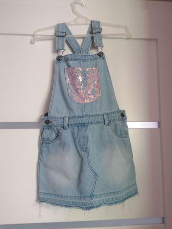 Ogrodniczki sukienka jeansowa 122