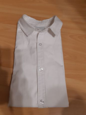 Biała koszula z długim rękawem  na 12 lat.