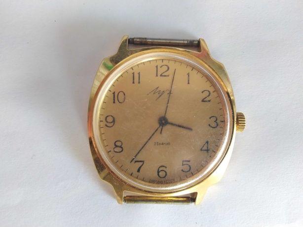 Часы ЛУЧ позолота Au5 механизм 23 камня СССР