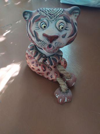 Тигр копилка,статуетка 17см