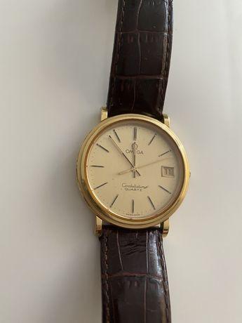 Zegarek Omega Constellation Quartz, pozłacany, piękny stan
