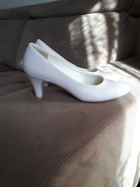 Czółenka buty na obcasie ślub wesele