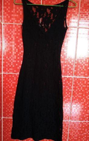 XS-S сексуальное кружевное черное миди платье футляр прозрачное