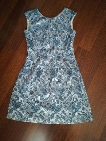 Niebieska sukienka roz 36