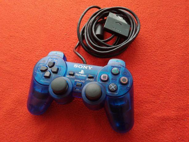 ORYGINALNY pad Duashock 2 Cristal Blue unikat do Ps2 PlayStation 2