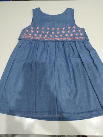 Sukienki sukienka jeansowa po bliźniaczkach rozm. 104