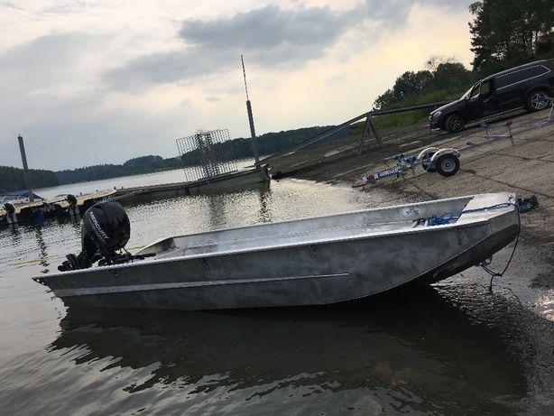łódka jach motorówka aluminiowa 5metrów wędkarska i nie tylko