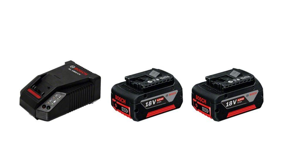 Akumulatory BOSCH GBA 18V 4.0Ah + Ładowarka AL1860CV (R)