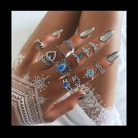 Zestaw pierścionków pierścionek srebrny