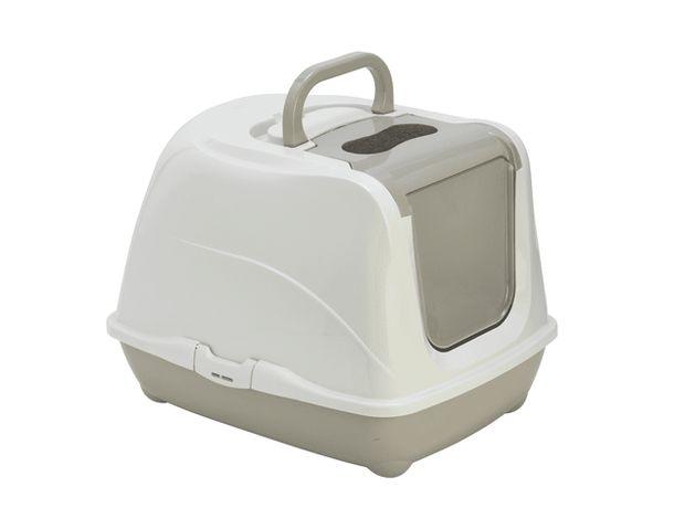 Toaleta dla kota Flip 1 kolor szary 50x39x37cm
