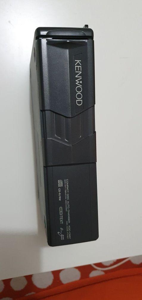 Carregador/leitor de 6 cds kenwood para automóvel