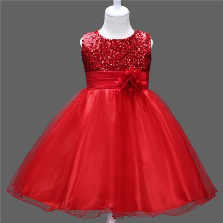 Платье нарядное для маленькой принцессы Пайетки
