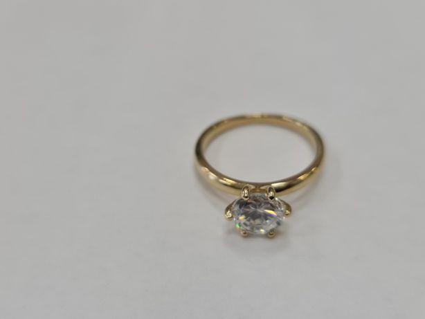 Piękny klasyczny złoty pierścionek damski/ 585/ 2.82 gram/ R13