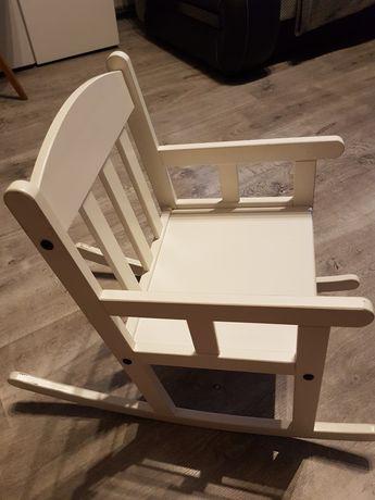 Bujane białe krzesełko dla dzieci IKEA SUNDVIK