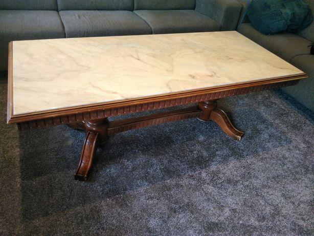 Duży stół - marmur - dąb