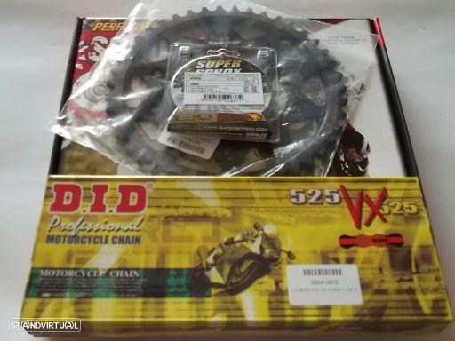 Kit Transmissao com corr. DID VX X-Ring Honda CBF 600 N de 2004 a 2007