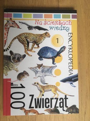 """Książka, encyklopedia """"Na ścieżkach wiedzy-100 zwierząt"""""""