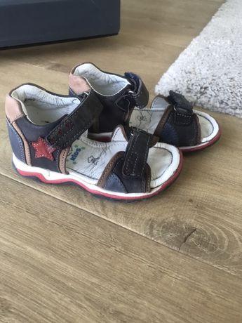 Sandały sandałki Lasocki 21 chłopięce skórzane skóra