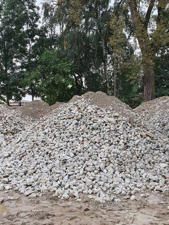 Gruz betonowy, piasek zasypowy, szlaka, kruszywo