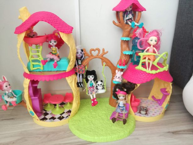 Domek enchantimals domek plus 7 lalek ze zwierzakami morska lalka