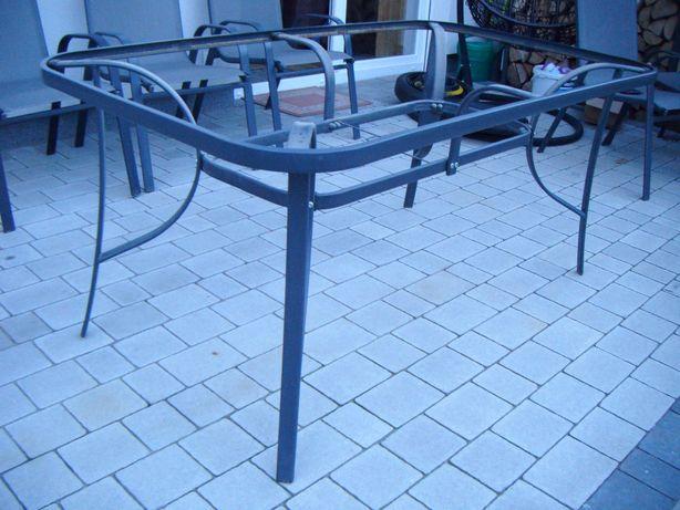 Stół ogrodowy szary metalowy nogi do stołu 160cm