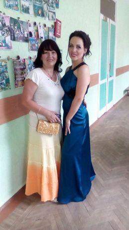 Вечернее выпускное нарядное длинное платье