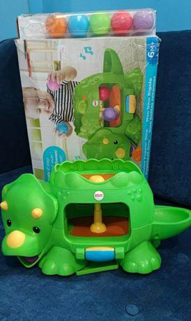 Развивающая игрушка Музыкальный динозавр Fisher-Price Веселые шарики